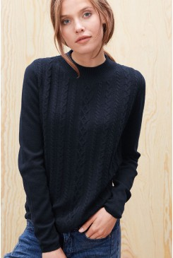 Dámsky pulóver s.OLIVER /  Soft knit jumper with a cable pattern 04.899.61.3167 5959