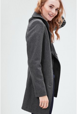 Dámsky kabát s.OLIVER / Fitted wool coat 09.611.52.2525 9722