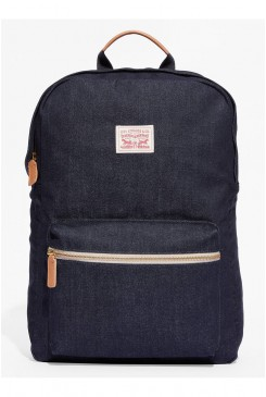 Batoh LEVI´S / Canvas Zip Top Backpack /  DARK BLUE 77170-0631