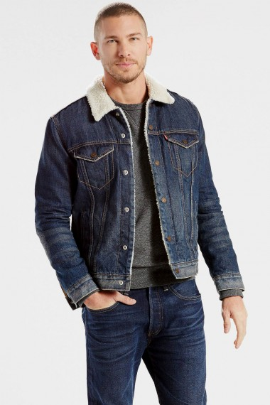 Pánska bunda Levi´s® / The Sherpa Trucker Jacket Lucky Town 163650034