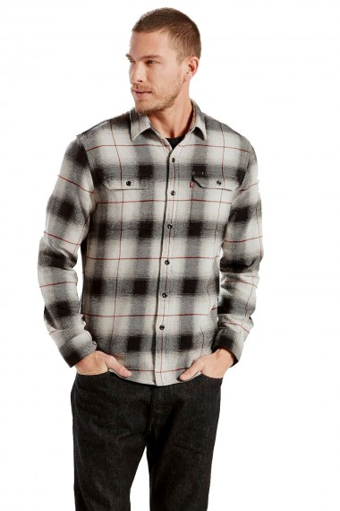 Pánska košeľa Levi´s® / JACKSON WORKER SHIRT LUNAR ROCK PLAID 195730038
