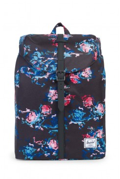 HERSCHEL batoh / Post Backpack | Mid-Volume Floral Blur/Black Rubber 10021-01262-OS
