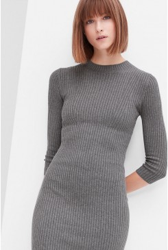 Dámske šaty s.OLIVER / Ribbed dress in blended wool 14.610.82.5691 9730