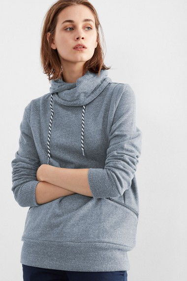 Dámska mikina Q/S designed by WOMEN / Mottled sweatshirt with a turtleneck 45.899.41.0422 58W0