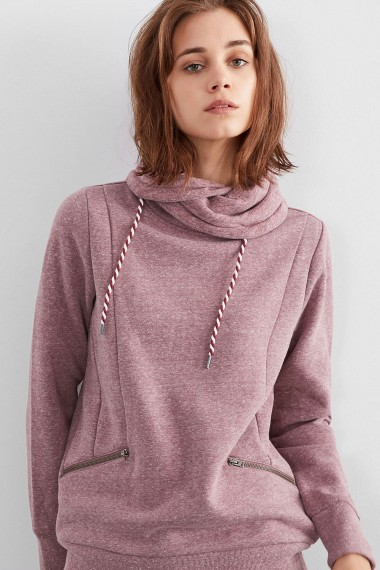 Dámske mikina Q/S designed by WOMEN / Mottled sweatshirt with a turtleneck  45.899.41.0422 49W0