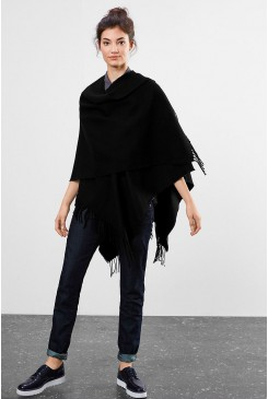 Dámske pončo Q/S designed by / Blanket poncho with fringing  45.899.91.0412 9999