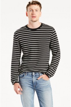 Pánsky pulóver LEVI´S / Long Sleeve Mission Tee 275770005 Black Stripe