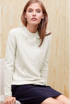 Dámsky pulóver s.OLIVER /  Soft knit jumper with a cable pattern 04.899.61.3167 02W0
