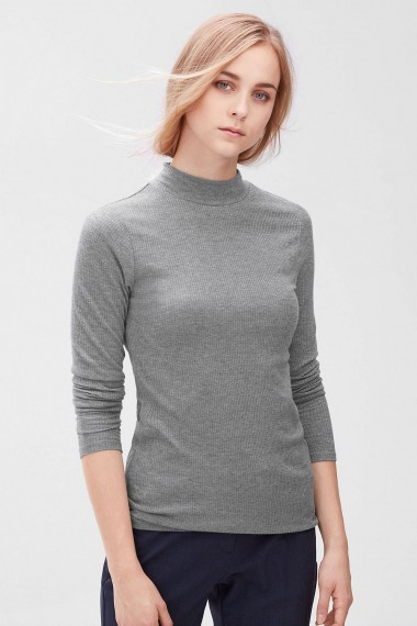Dámsky polorolák s.OLIVER / Ribbed long sleeve T-shirt 04.899.31.3711 9730