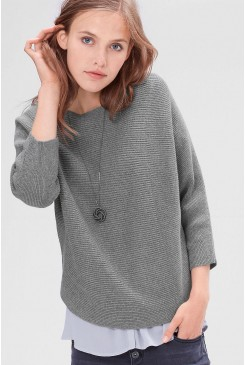 Dámsky pulóver s.OLIVER / Knitted jumper with batwing sleeves  04.899.61.3727 9730