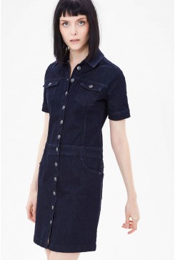 Dámske šaty s.OLIVER /  Stretch denim dress with button placket 14.611.82.6122 58Z8