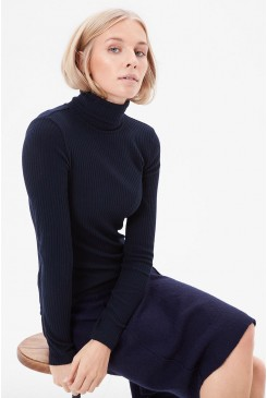 Dámsky rolák s.OLIVER / Ribbed top with a turtleneck 14.611.31.5038 59W0
