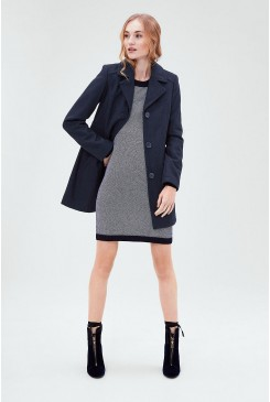 Dámsky kabát s.OLIVER / Fitted wool coat 09.611.52.2525 59W0