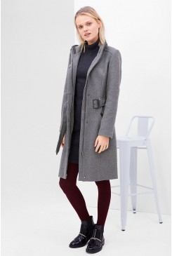 Dámsky kabát s.OLIVER / Figure-enhancing wool blend coat 05.611.52.8454 9722