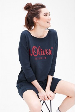 Dámske šaty s.OLIVER / Sweatshirt dress with a printed logo 21.702.82.7068 58D0