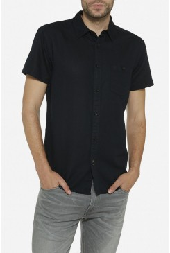 Pánska košeľa WRANGLER / W5860LOW5 SHIRT REAL BLACK