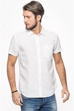 Pánska košeľa WRANGLER / W5860LOW1 SHIRT REAL WHITE