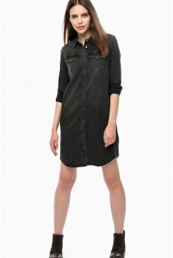 Dámske šaty Lee / L50QKQOW SHIRT DRESS BLACK WORN