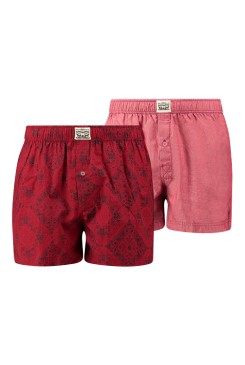 Pánske boxerky LEVI´S® 300LS SERIES 2 PACK / 773160396 red
