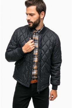 Pánska bunda LEE / QUILTED BOMBER DARK GREY MELE L89EEX06
