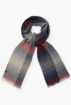 Šál Wrangler / FADED CHECK SCARF DARK GREY W0S28UJ06
