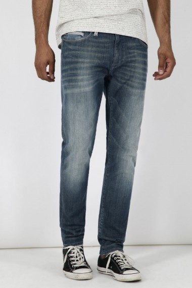 Pánske rifle MAVI / MARCUS Slim Straight Leg Jeans 0035124784 MID SHEDED ULTRA MOVE