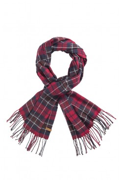 Šál LEE LH5734DE CHECK SCARF TAWNY PORT