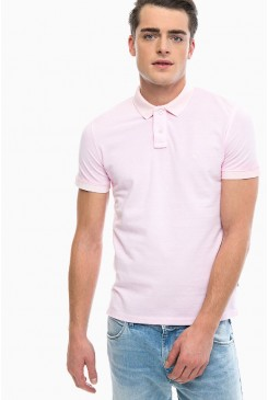 Pánske polo Wrangler® W7B37KQU6 Polo Shirt Peppa pink