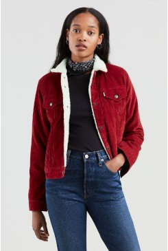 Dámska bunda Levi´s® / Original Sherpa Trucker Jacket 36136-0022 Red