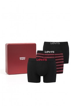 Pánske boxerky Levi's® 37149-0075 giftbox christmas chilli stripes