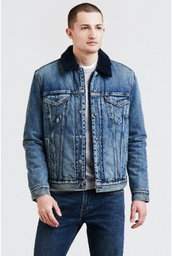 Pánska bunda LEVI´S® The Sherpa TYPE 3 Trucker Jacket 16365-0067 Indigo Lamb