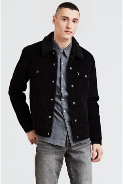 Pánska bunda Levi´s® / The Sherpa TYPE 3 Trucker Jacket 16365-0068 Black Corduroy