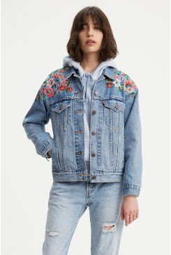 Dámska rifľová bunda LEVI´S® Ex-Boyfriend Trucker Jacket  29944-0063 Hearts Of Flowers