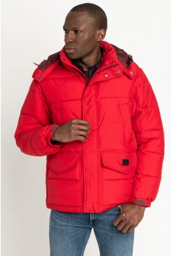 Pánska bunda Lee® Puffer Jacket L87XUMKG Warp Red