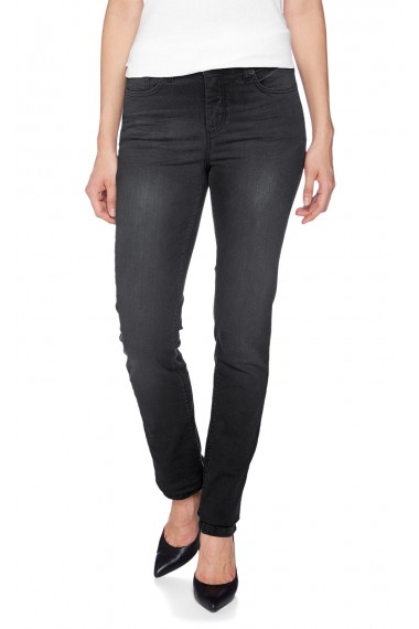 HIS Jeans Dámske rifle 143-10-071 MARYLIN W816 WASHED POWER BLACK