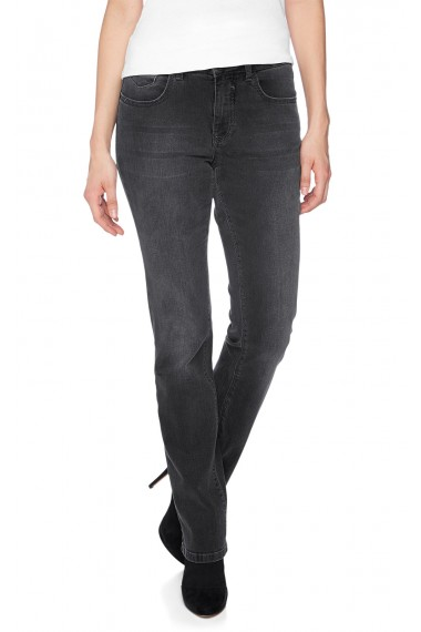 HIS Jeans Dámske rifle 143-10-791 MADISON DARK GREY WASH