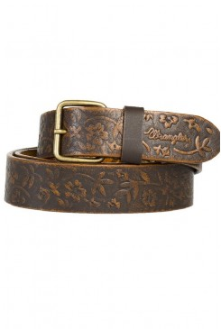 Kožený opasok WRANGLER /  CFLOWERS BELT BROWN W0392UK85