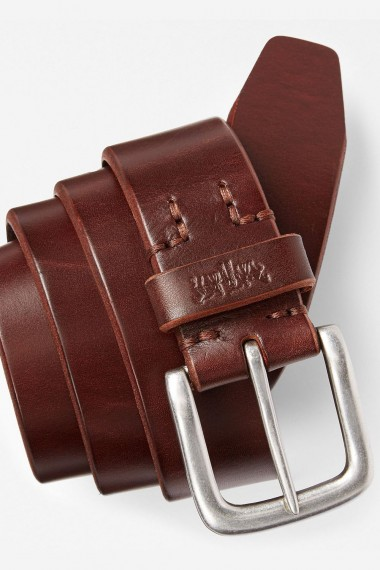 Kožený opasok LEVI´S® HEAVY LEATHER PREMIUM BELT DARK BROWN 771341761