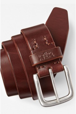 Kožený opasok LEVI´S HEAVY LEATHER PREMIUM BELT DARK BROWN 771341761