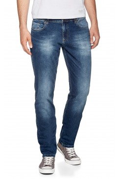 Pánske rifle HIS Jeans / CLIFF Dark Illusion Wash 100535