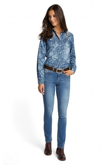 Dámske rifle HIS Jeans / MARYLIN true blue 100624