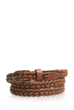 Dámsky opasok s.OLIVER / Braided-effect leather belt 31.509.95.7305 8770