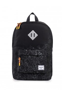 HERSCHEL Supply batoh /  HERITAGE MID-VOLUME BLACK/SCREEN PRINT 10019-01036-OS