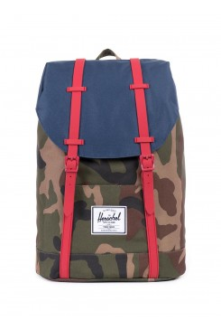 HERSCHEL Supply batoh / RETREAT WOODLAND CAMO/NAVY/RED RUBBER 10066-00309-OS