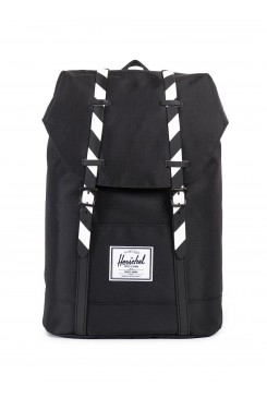 HERSCHEL Supply batoh / RETREAT BLACK/BLACK STRIPE RUBBER 10066-00774-OS