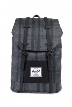 HERSCHEL Supply batoh / RETREAT PLAID/ BLACK/ BLACK RUBBER 10066-00754-OS