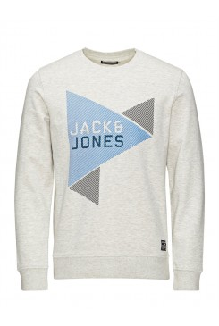 Mikina Jack & Jones /  LOGO PRINT REGULAR FIT SWEATSHIRT12093107 JJ co speed sweat cruw