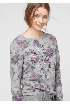 Dámska mikina  s.OLIVER Sweatshirt with a printed floral pattern  09.512.41.3319 94D0
