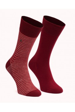 "Ponožky LEVI´S  2Pack 168SF Stripe Regular Cut ""Cabernet""168SF/ 943006001-072 / 77319-0446 RED"