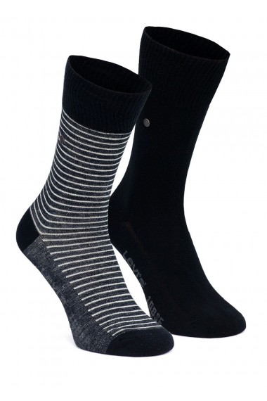 "Ponožky LEVI´S 2Pack 168SF Stripe Regular Cut ""Jet Black"" 168SF 943006001-884 / 77319-0448 BLACK"